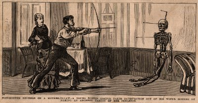 Post Mortem Revenge on a Mother-in-Law, Illustrated Police News, 1888