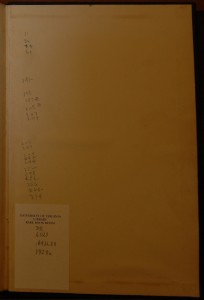 Pencil List on Rear End-Paper of Pirate Copy of Lady Chatterley's Lover