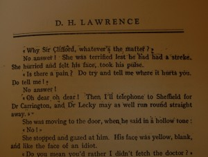 Smeary Printing in New York Pirate Edition of Lady Chatterley's Lover