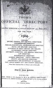 Thom's Official Directory of the United Kingdom or Great Britain and Ireland for the Year 1904