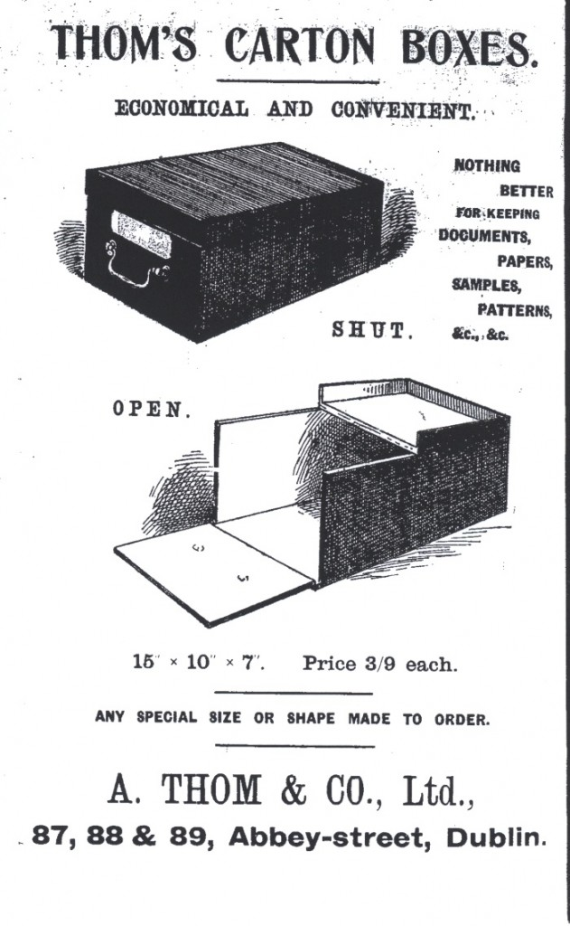 Advertisement from Thom's