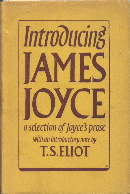 """Introducing James Joyce"" Dust Jacket"""