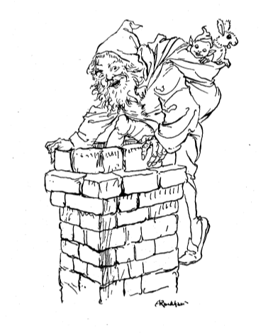 Santa Emerging from Chimney